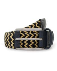 Andersons - Anderson Woven Navy Champagne Belt B0667 Af2949 Ne41 Bl - Lyst