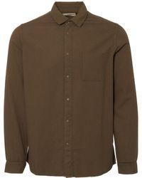 Folk - Military Green Flannel Pop Stud Shirt - Lyst