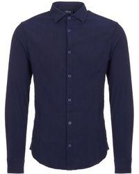 Armani Jeans - Camicia Cross Hatch Pattern Shirt - Lyst
