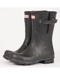 HUNTER - Side Adjustable Short Wellington Boots - Black - Lyst