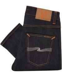 Nudie Jeans - Lean Dean Denim Jeans - Dry Tonal Ecru - Lyst
