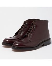 G.H.BASS - Wine Monogram Aron Leather Boot - Lyst