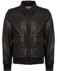 Schott Nyc - Black A-2 Leather Flight Jacket - Lyst
