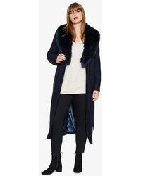 Studio 8 - Fergie Faux Fur Collar Coat - Lyst