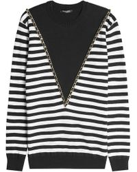 Balmain - Chain Embellished Pullover - Lyst