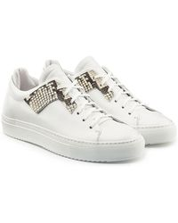 OAMC - Leather Sneakers With Embossed Python Detail - Lyst
