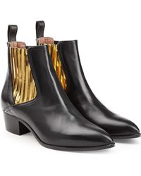 L'Autre Chose | Leather Chelsea Boots With Metallic Insets | Lyst