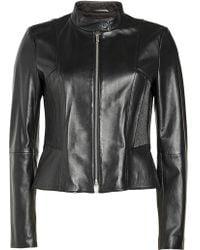 HUGO - Lenina Leather Jacket - Lyst