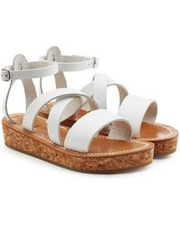 046d0df66af K. Jacques - Leather Sandals With Espadrille Wedge - Lyst
