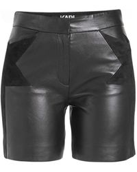 Karl Lagerfeld - Leather Shorts With Suede - Lyst