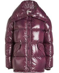 Nina Ricci - Oversized Shiny Habutai Down Jacket - Lyst