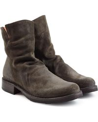 Fiorentini + Baker - Distressed Suede Ankle Boots - Lyst
