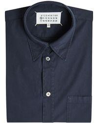 Maison Margiela - Hemd Garment Dyed aus Baumwolle - Lyst