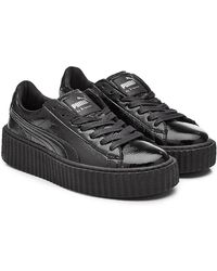 PUMA - Patent Leather Creeper Sneakers - Lyst