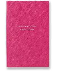 Smythson - Panama Inspirations And Ideas Leather Notebook - Lyst