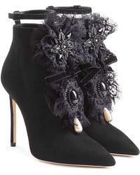 DSquared² - Suede Ankle Boots With Lace - Lyst