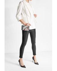 Karl Lagerfeld - Tuxedo Striped Leather Leggings - Lyst