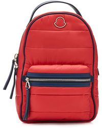 Moncler - Georgette Leather-trimmed Backpack - Lyst
