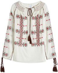 Christophe Sauvat - Embroidered Cotton Tunic - Lyst