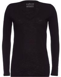 Velvet - Blaire V-neck Cotton Top - Lyst