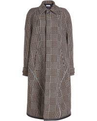 Balenciaga - Printed Coat With Virgin Wool - Lyst