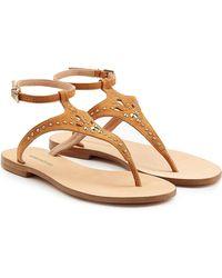 Vanessa Bruno - Embellished Suede Sandals - Lyst