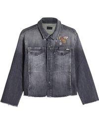 Mother - Printed Denim Jacket - Lyst