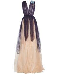 Delpozo - Floor Length Tulle Gown - Lyst