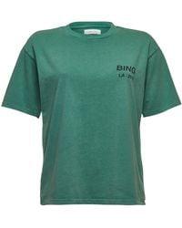 Anine Bing - La Printed Cotton T-shirt - Lyst