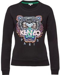 KENZO - Cotton Sweatshirt With Embroidery - Lyst