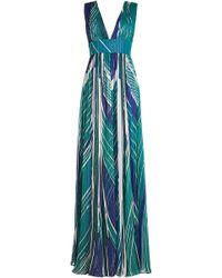 DHELA - Printed Silk Dress - Lyst