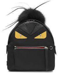 Fendi - Backpack With Fox Fur - Lyst