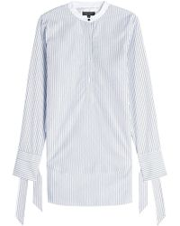 Rag & Bone - Striped Cotton Shirt With Bows On The Cuffs - Lyst