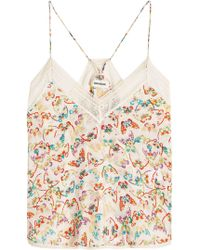 Zadig & Voltaire - Christy Butterfly Printed Camisole - Lyst