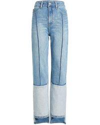 SJYP - Straight Leg Jeans im Patchwork Look - Lyst