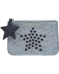Tommy Hilfiger - Studded Metallic Leather Pouch - Lyst