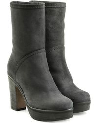 Fiorentini + Baker - Suede Ankle Boots With Platform - Lyst