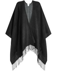 Closed - Cape With Fringe - Lyst