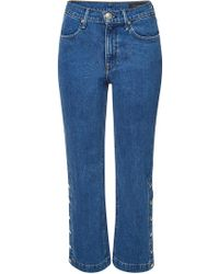 Rag & Bone - Snap Dylan Jeans With Buttoned Sides - Lyst