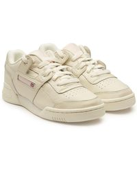 8c9313563bc6 Reebok - Workout Lo Plus Leather Sneakers - Lyst