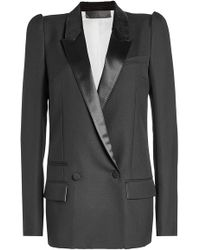 Haider Ackermann - Wool Blazer With Velvet And Satin Lapels - Lyst