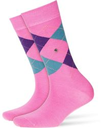 Smythson - Printed Virgin Wool Ankle Socks - Lyst