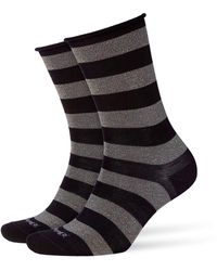 Smythson - Metallic Striped Socks - Lyst