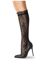 Fogal - Lace Knee-high Socks - Lyst