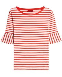 HUGO - Danyeli Striped Cotton Top - Lyst