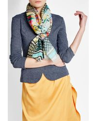 Lala Berlin   Printed Cotton Scarf   Lyst