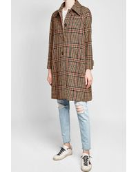Golden Goose Deluxe Brand - Printed Coat With Fleece Wool - Lyst