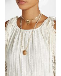 Gas Bijoux - Necklace With Mother Of Pearl, Wood And Glass - Lyst