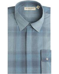 Burberry - Check Print Shirt - Lyst