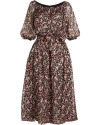 Vanessa Seward - Printed Silk Dress - Lyst